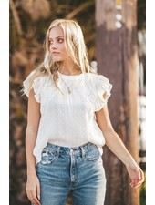 Sally Lace Blouse | White