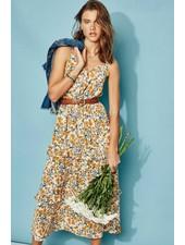 Charlotte Ruffle Midi Dress