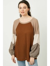 Mila Contrast Thermal Knit