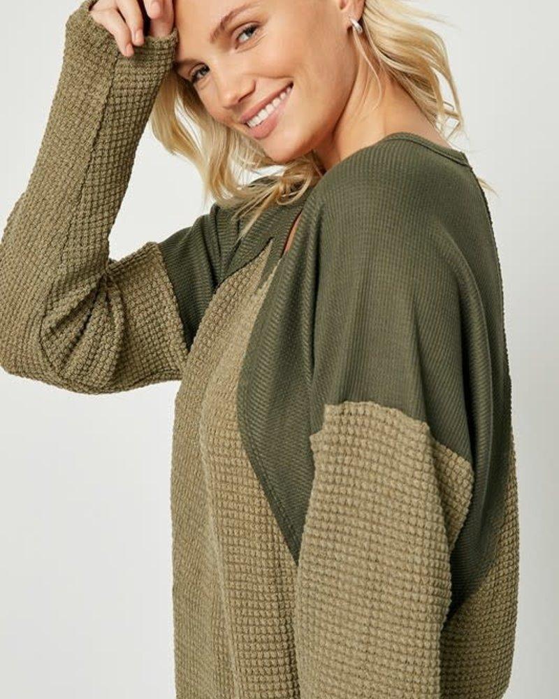 Layla Waffle Knit Top