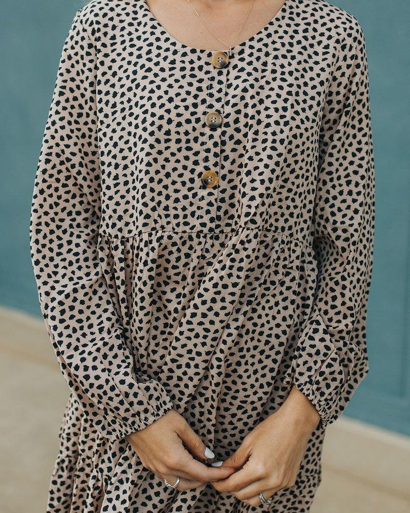 Scarlett Buttoned Mini Dress