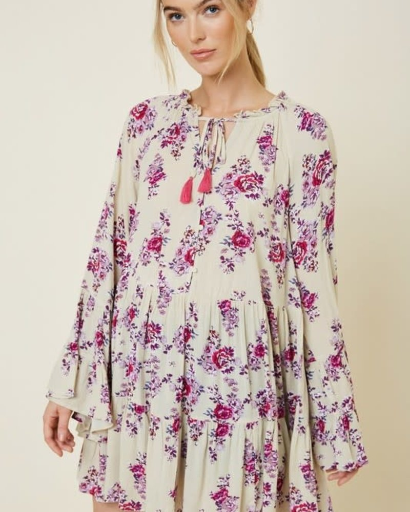 Claire Bell Sleeve Swing Top Dress