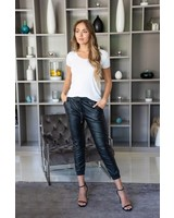 Nora Faux Leather Joggers