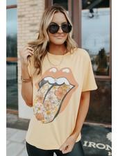 Rolling Stones Flower Tongue Boyfriend Tee