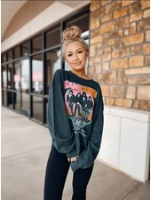 Ramones Today Your Love Oversized Crew Sweatshirt