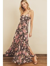Flora Floral Flared Maxi Dress