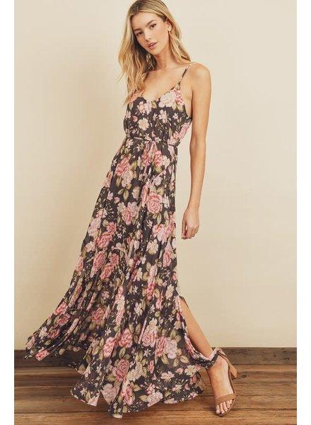Flora Floral Flared Maxi Dress