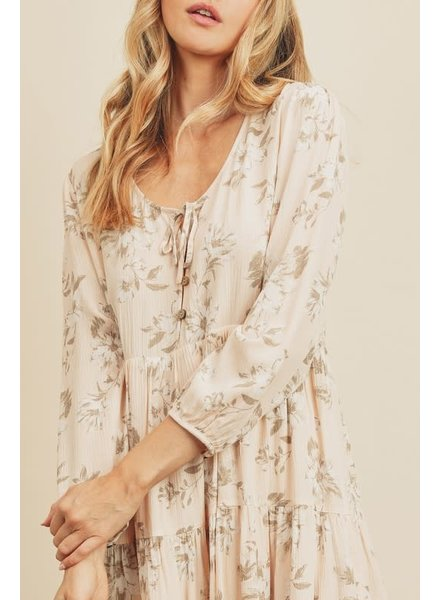 Vanessa Floral Long Sleeve Swing Dress