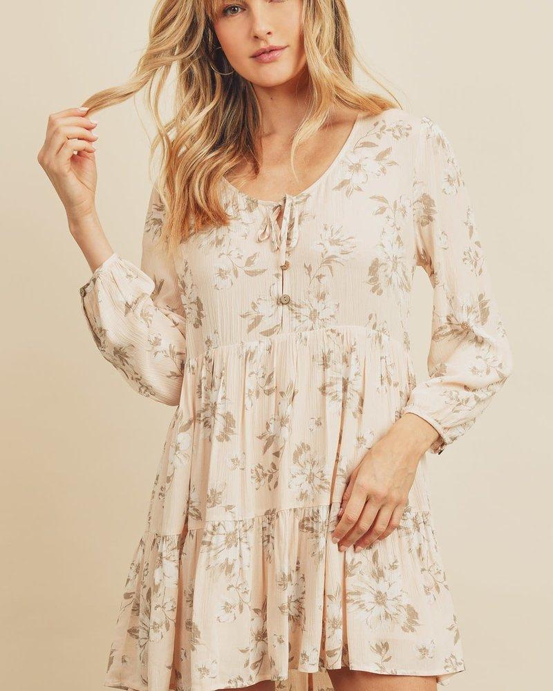 Vanessa Floral Long Sleeve Swing Dress