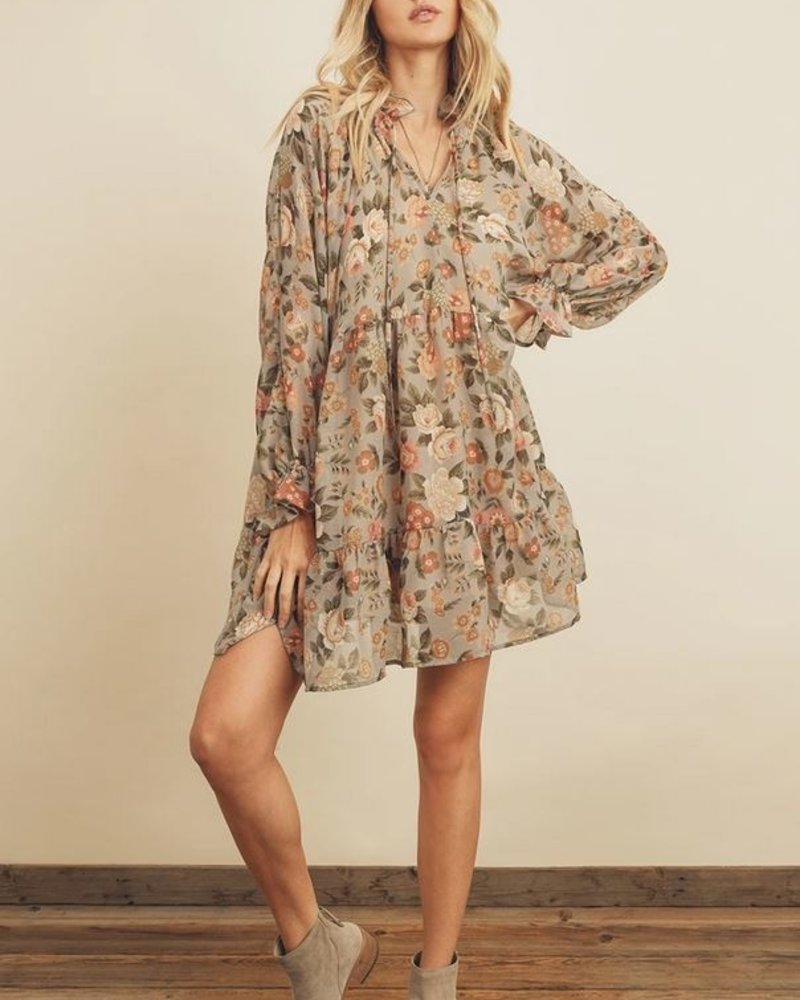 Pure Bliss Floral Babydoll Dress