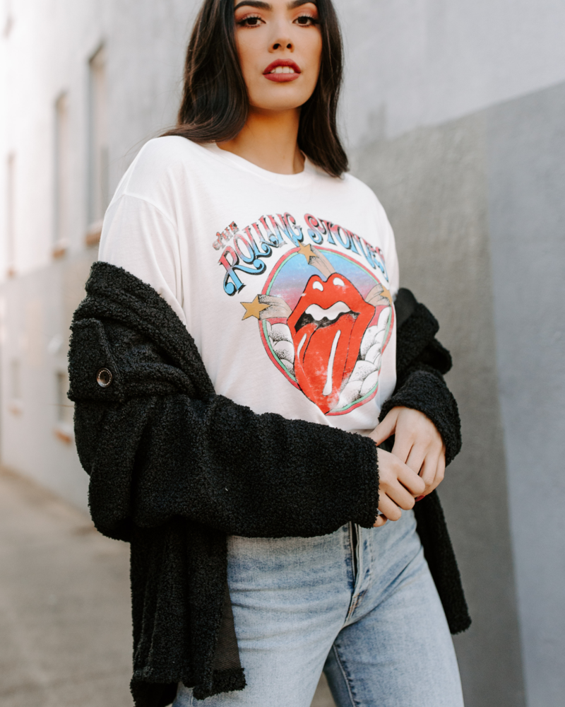 Rolling Stones Clouds & Stars BF Tee