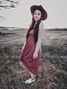 Gracie Dress   Dusty Rose
