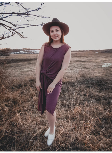 The Sloan Dress   Burgundy