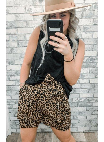 Leopard Belt Short