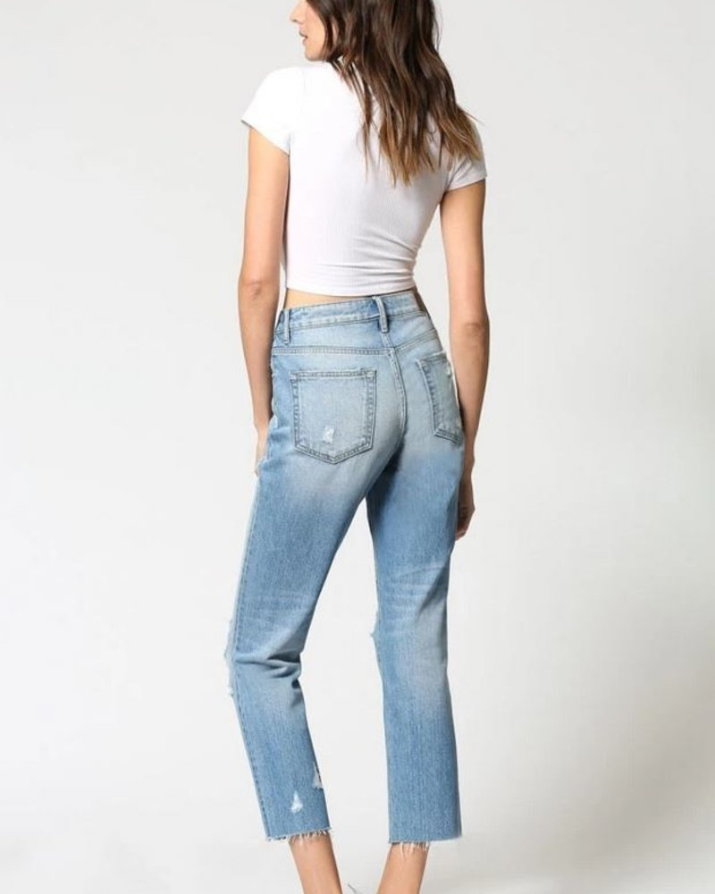 Tracey High Rise Straight Crop