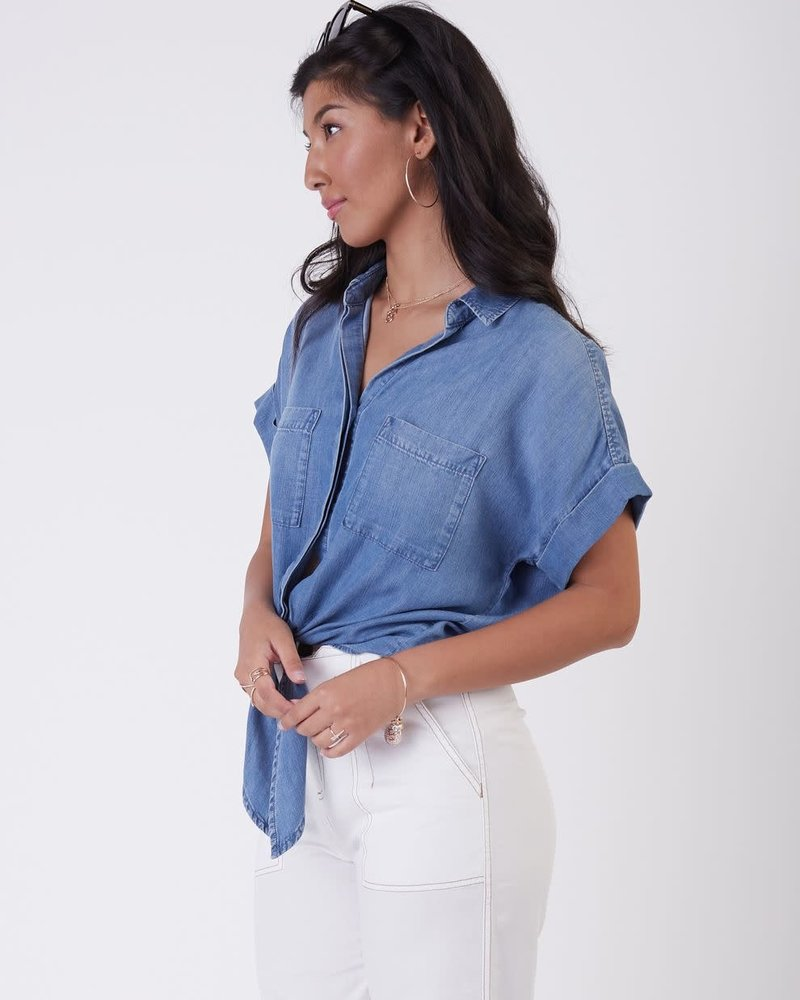 Aubrey Tencel Blouse | Blue Wash