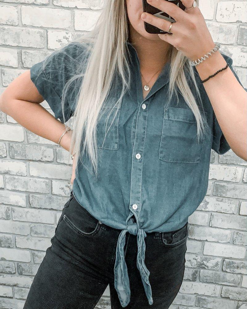 Aubrey Tencel Blouse | Blue Wash