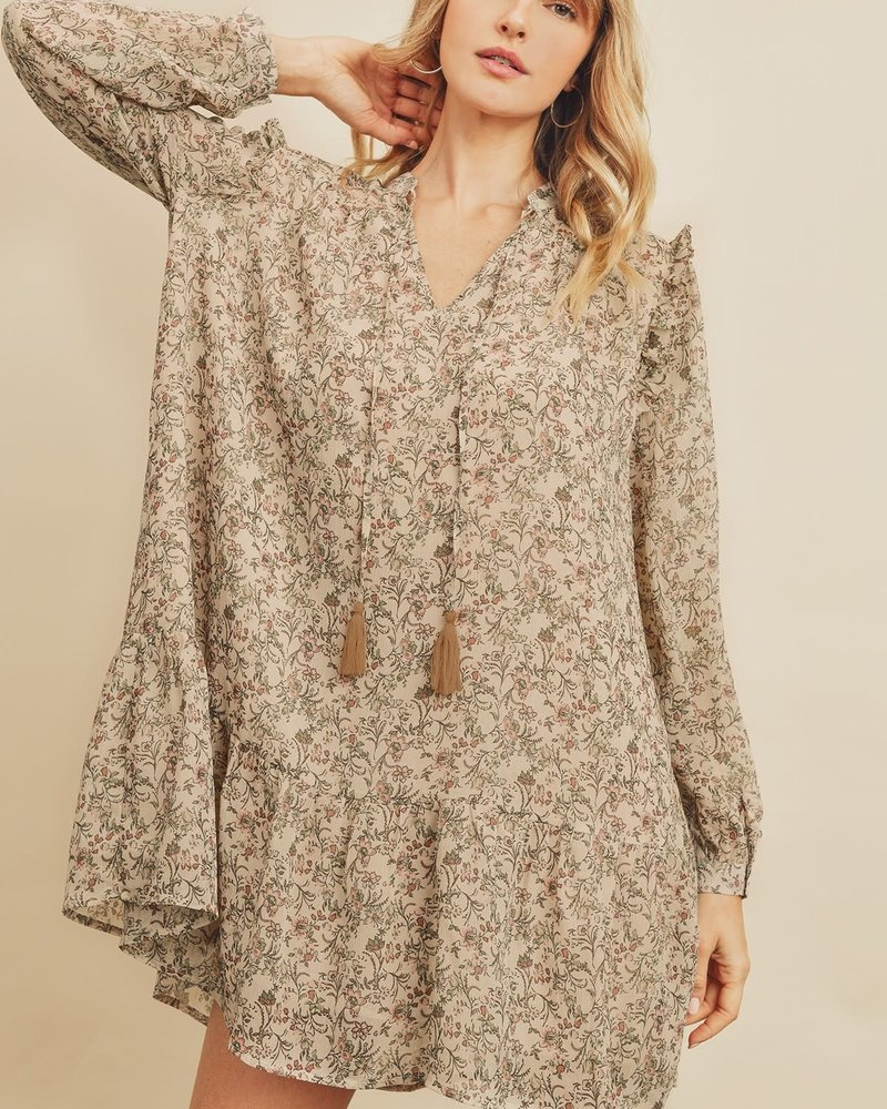 Ditsy Paisley Floral Swing Dress