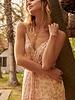 Tie-Dye Jacquard Twist-Front Cami Maxi Dress