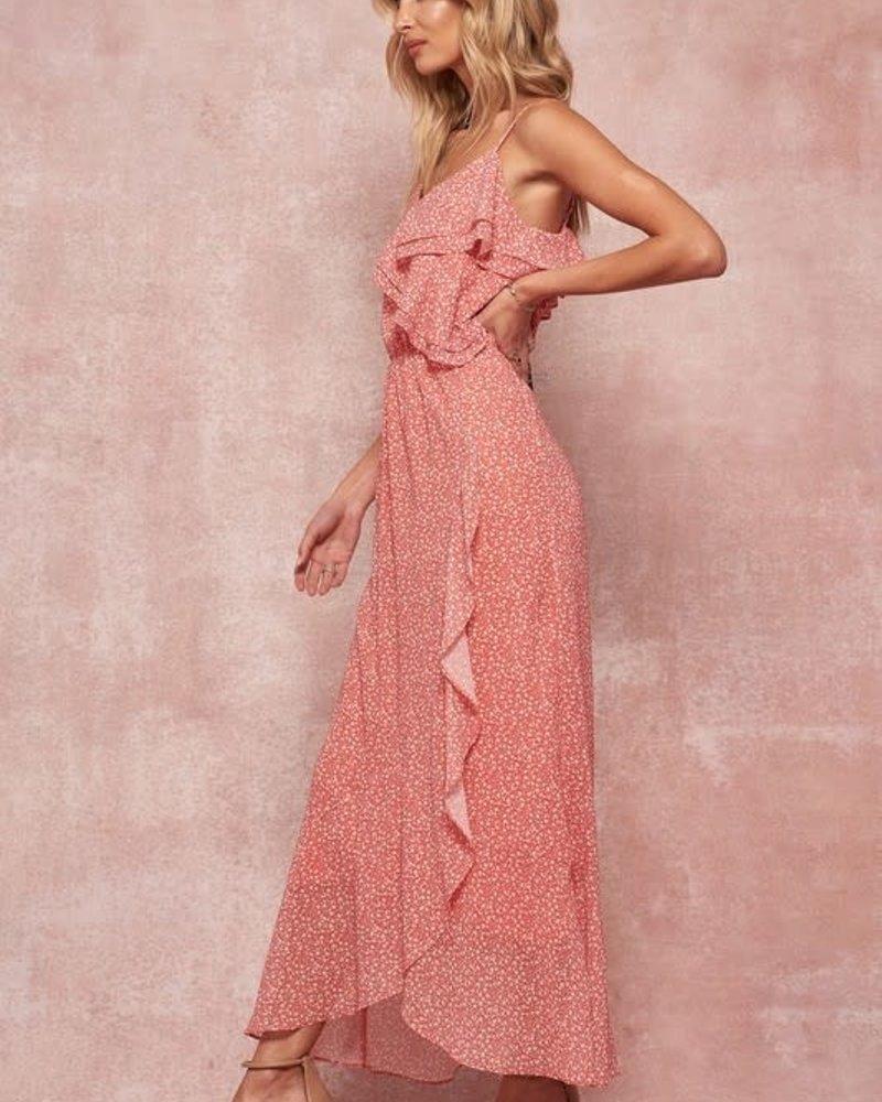 Kimberly Tulip-Skirt Cami Maxi Dress