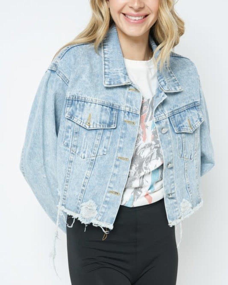 Norah Distressed Denim Jacket