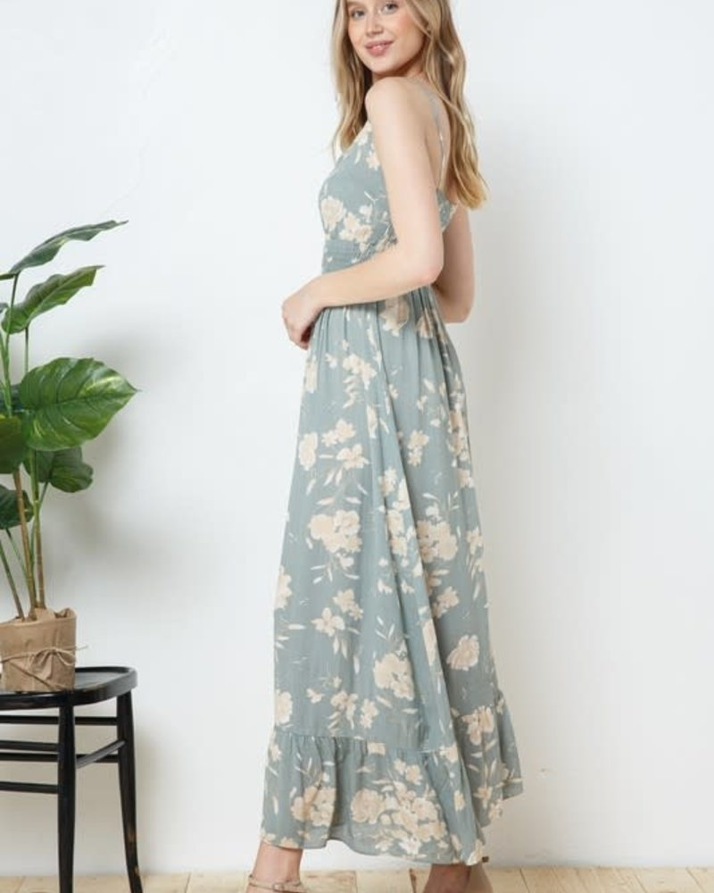 Kellie Teal Floral Dress