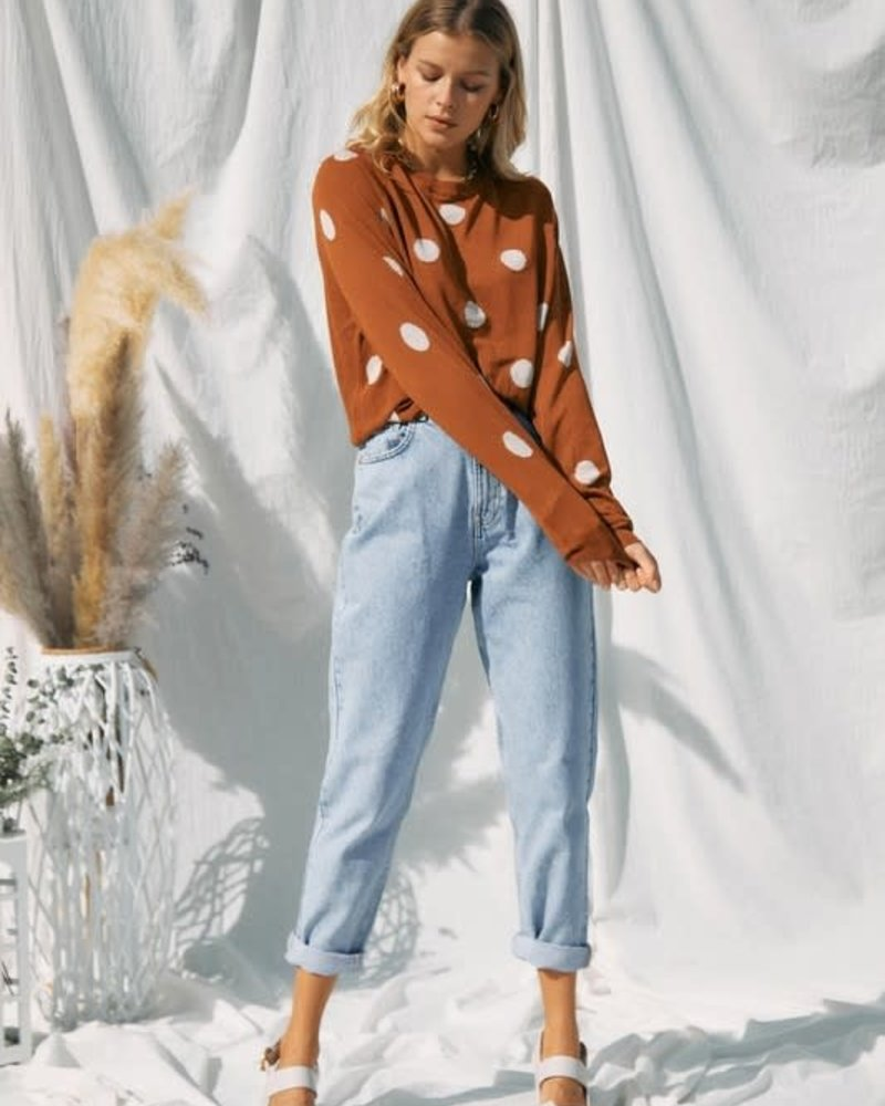 Alice Polka Dot Long Sleeves Knit Top