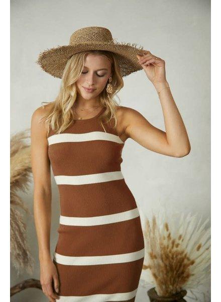 Allison Stripe Knit Midi Dress