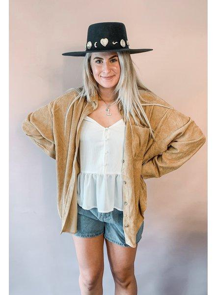 Corduroy Front Pocket Shirt | Mustard