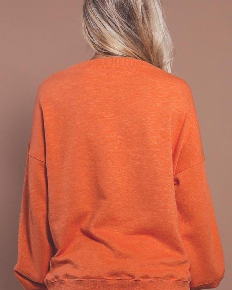 Kirsten Long Sleeve Knit | Rose