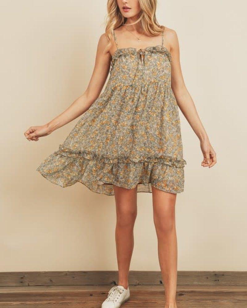 Racheal Ruffled Trim Mini Dress