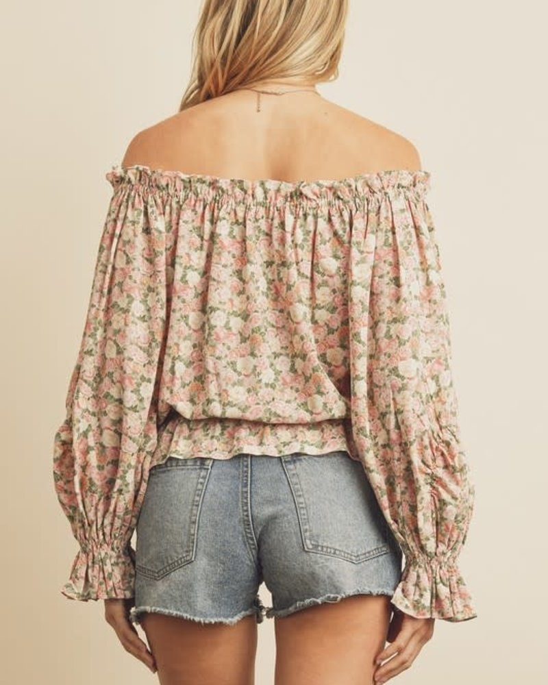 All In Bloom Off-the-Shoulder Top