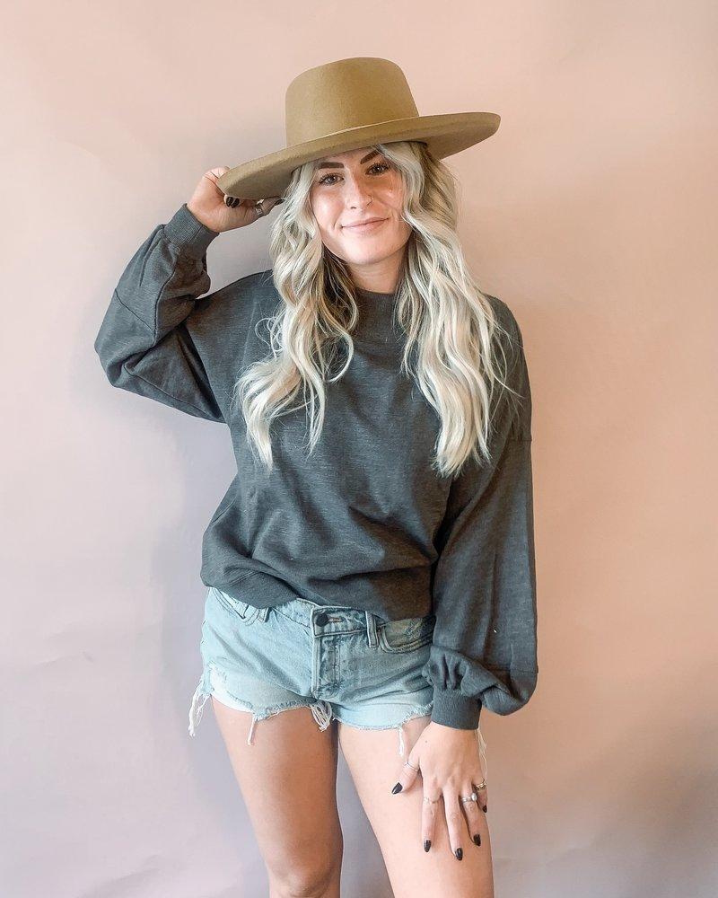 Kirsten Long Sleeve Knit   Grey