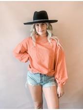 Kirsten Long Sleeve Knit   Rose