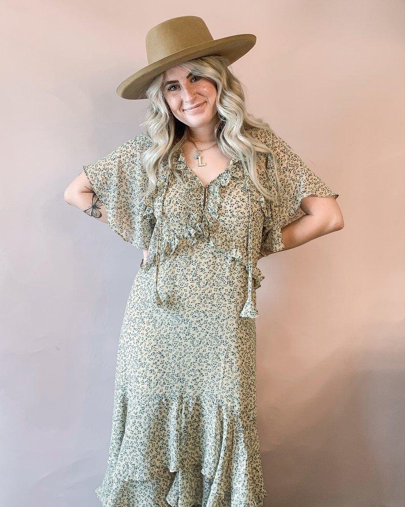 Sophia Floral Ruffled Midi Dress