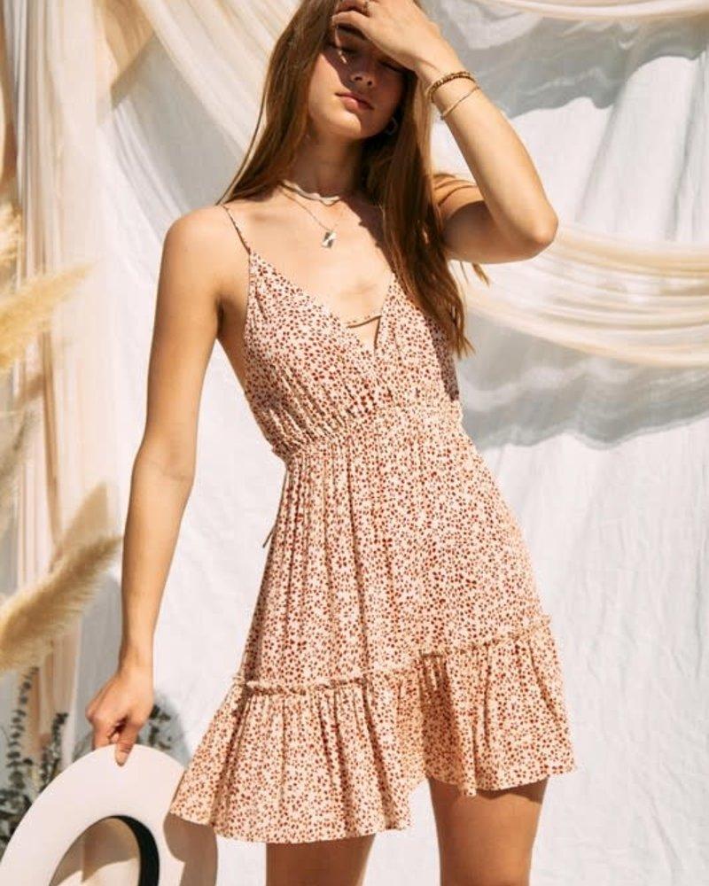 Daisy Midi Dress   Rust