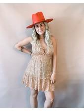 Daisy Midi Dress | Rust