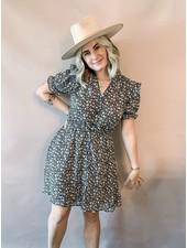 Darla Floral Button-Down Mini Dress