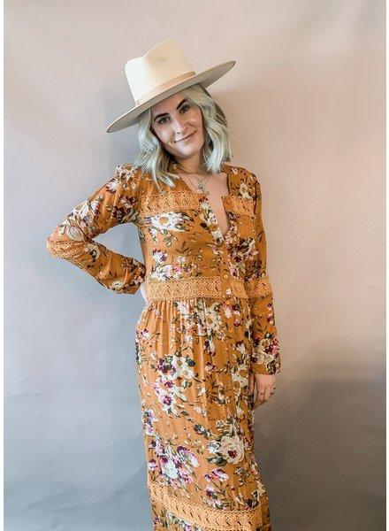 Sophia Kimono Dress   Mustard