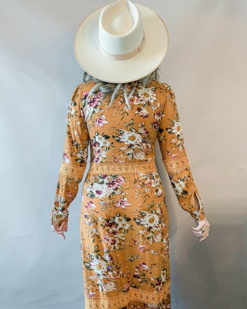 Sophia Kimono Dress | Mustard