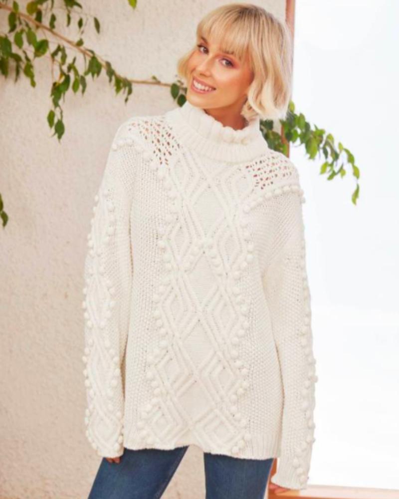 Nessie Knit   White