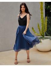 Maia Skirt   Steel Blue