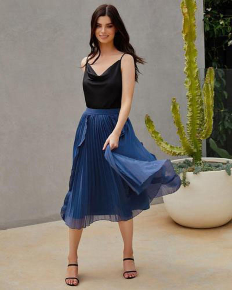 Maia Skirt | Steel Blue