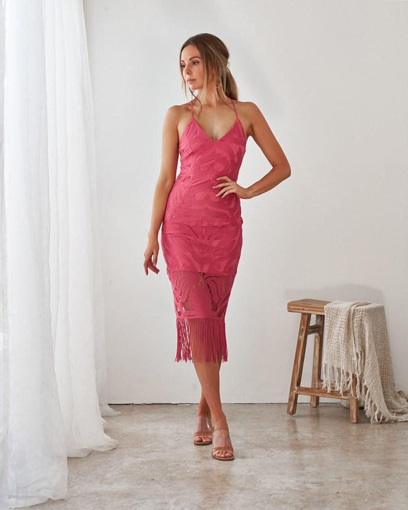 Khaleesi Dress   Hot Pink