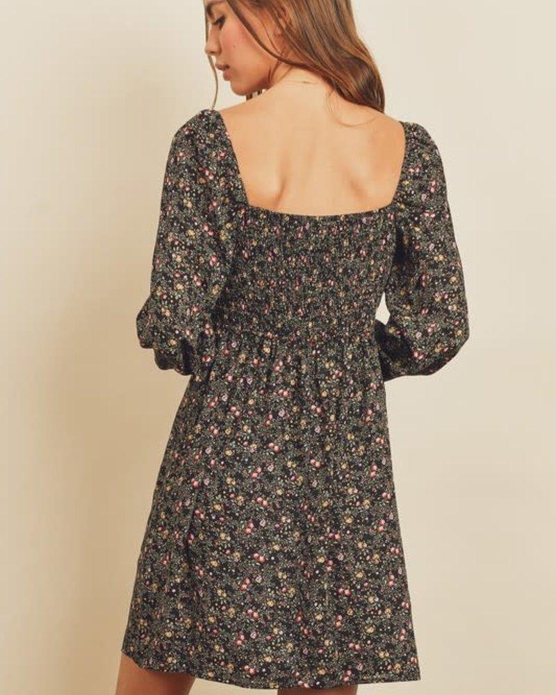 Nightfall Sweetheart Mini Dress