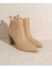 The Finley Nude | Stacked  Heel