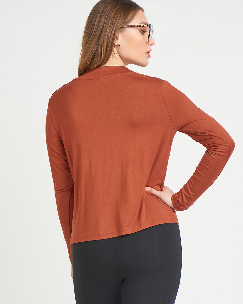 Kaylie Cowl Neck Top   Rust
