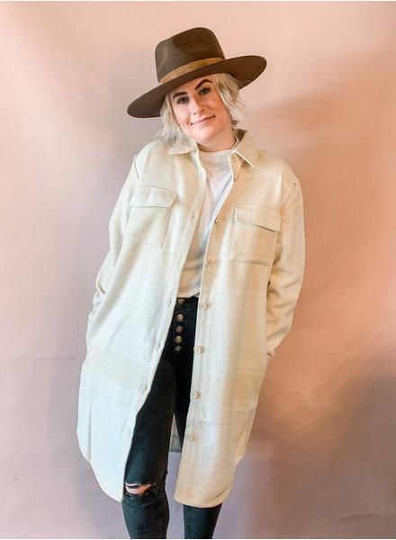 Mavis Shacket | Cream/Beige