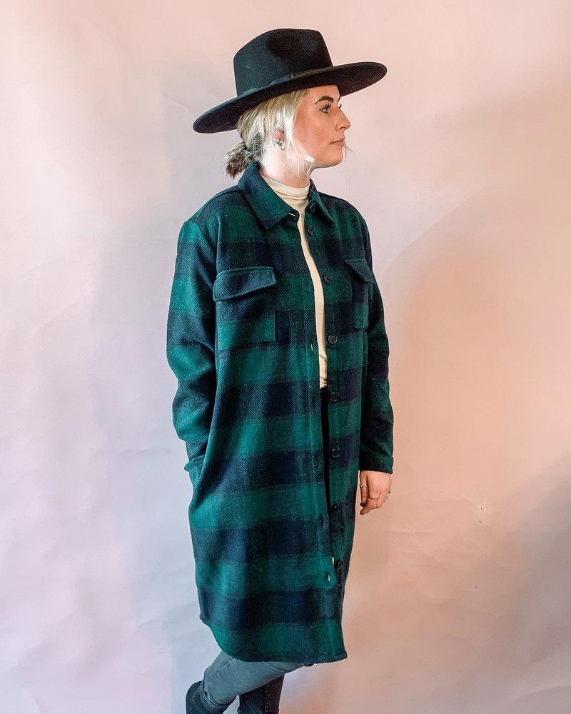 Mavis Shacket   Green/Navy