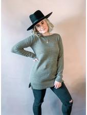 Aliza Tunic Sweater | Khaki